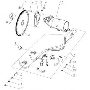 Система электрозапуска (Стартер 111101330)