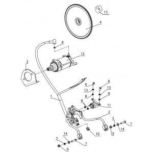 Система электрозапуска (Стартер 515176784)